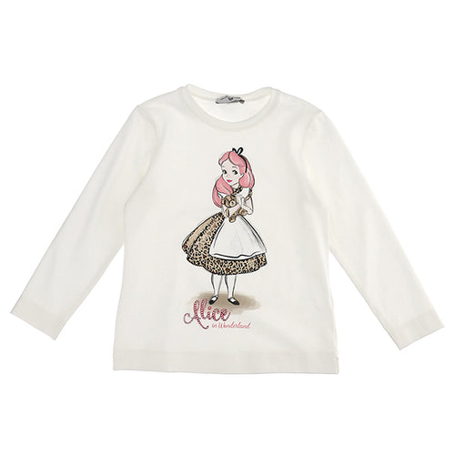 Ivory Alice in Wonderland Top