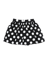 Load image into Gallery viewer, Black & White Polka Dot Skirt