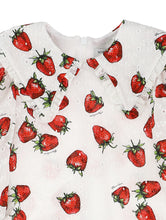 Load image into Gallery viewer, White Broderie Anglaise Strawberry Dress