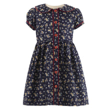 Load image into Gallery viewer, Navy Primrose Dress & Bloomers
