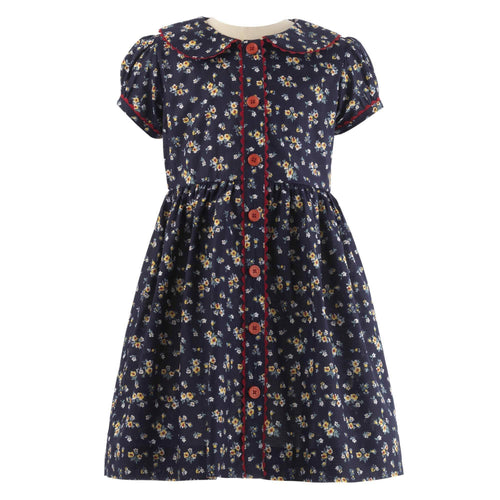 Navy Primrose Dress & Bloomers