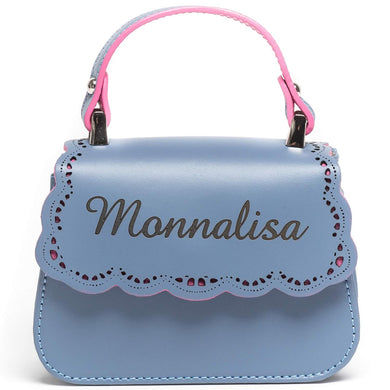 Monnalisa Girls Blue Leather Bag
