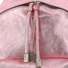 Load image into Gallery viewer, Pink Metallic Backpack