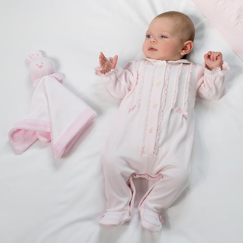 Pink Laced Babygrow