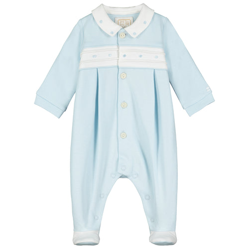 Blue & White Dot Babygrow