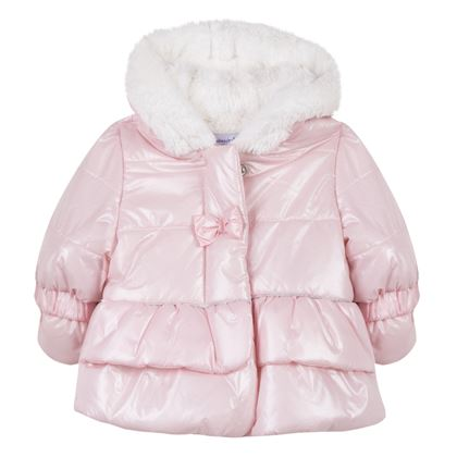 Pink Bow Puffer Jacket
