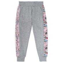 Load image into Gallery viewer, Monnalisa Sale Grey Floral Sweat Pants