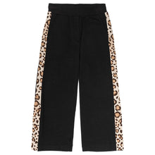 Load image into Gallery viewer, Monnalisa Sale Black & Leopard Sweat Pants