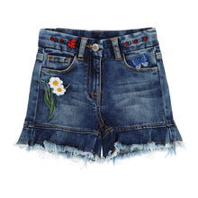 Load image into Gallery viewer, Appliqued Denim Shorts