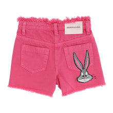 Load image into Gallery viewer, Pink Embellished Bugs Bunny Shorts