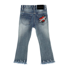 Load image into Gallery viewer, Denim Sequin Cherry Jeans