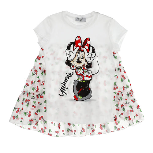 White Minnie Mouse Tunic Top
