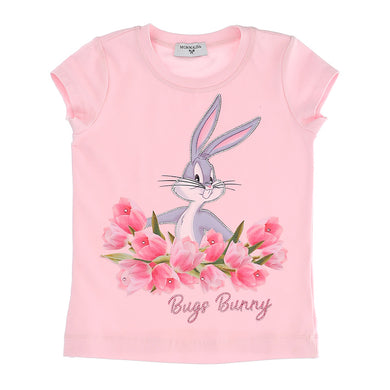 Pale Pink Bugs Bunny Roses T-Shirt