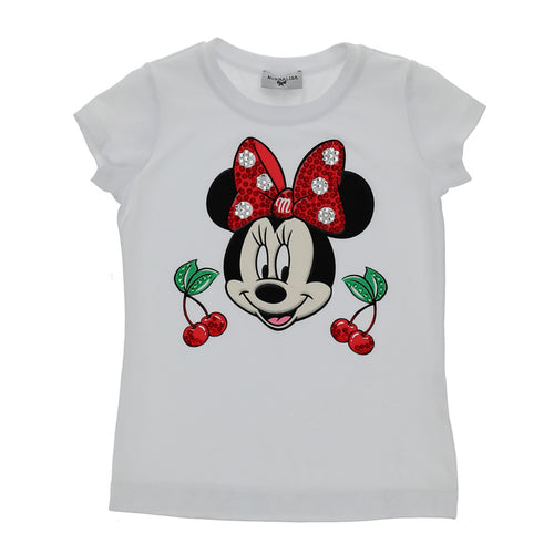White Minnie Mouse & Cherry T-Shirt
