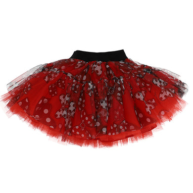 Red Bow Tulle Skirt