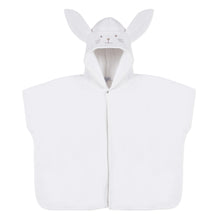 Load image into Gallery viewer, Ivory Hooded Rabbit Cape Towel