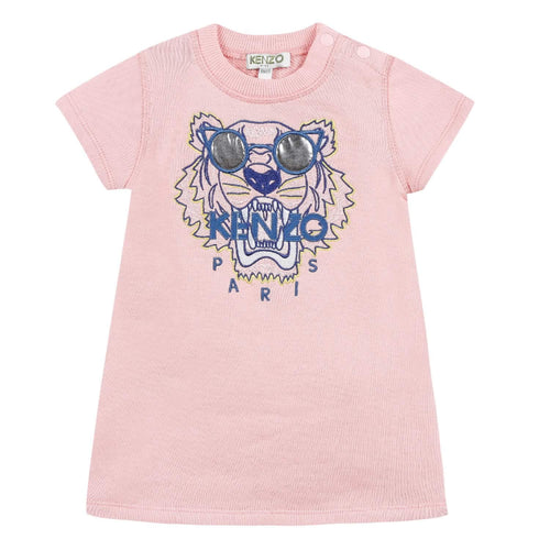 Kenzo Girls Sale Pink Tiger Face Sweat Dress