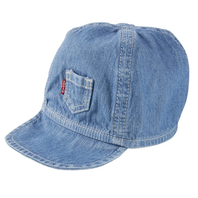 Blue Chambray Baby Cap