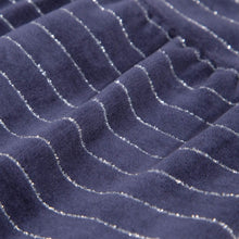 Load image into Gallery viewer, Navy Stripe Velour Babygrow