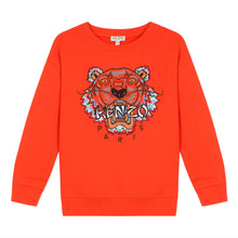 Load image into Gallery viewer, Kenzo Boys Sale Orange Tiger Sweat Top