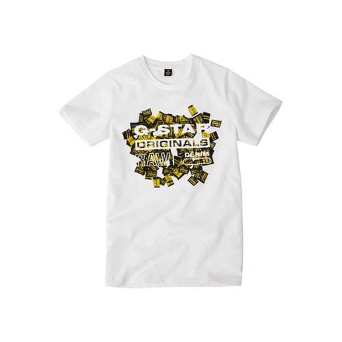 G-Star Raw Boys Sale White Label Logo T-Shirt