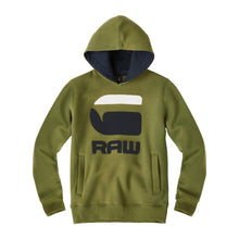 Load image into Gallery viewer, G-Star Raw Boys Sale Khaki Logo Hoodie