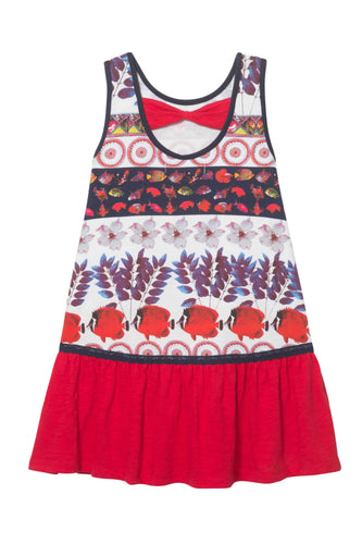 Red & White Under The Sea Dress