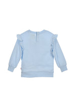 Load image into Gallery viewer, Baby Girls Blue Sweat Top