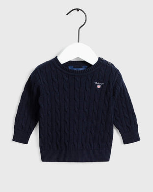 Navy Cable Knit Jumper Gift Set