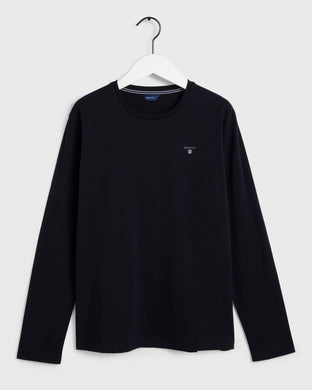 Navy LS Crew Neck Top