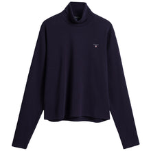 Load image into Gallery viewer, Navy Roll Neck Top