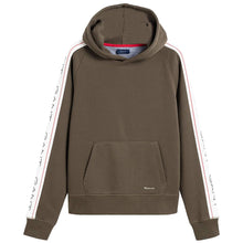 Load image into Gallery viewer, Khaki Tape Logo Hoodie