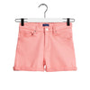 Pink Girls Denim Shorts