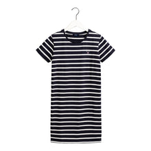 Load image into Gallery viewer, Navy & White Stripe Dress