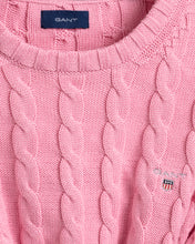 Load image into Gallery viewer, Pink Knitted Crew Neck Jumper