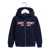 Navy Sports Zip Up Hoodie