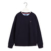 Navy Crew Neck Sweat Top