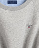 Grey Crew Neck Logo Sweat Top