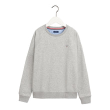 Load image into Gallery viewer, Grey Crew Neck Logo Sweat Top