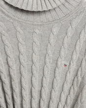Load image into Gallery viewer, Grey Knitted Roll Neck Jumper