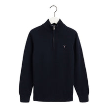 Load image into Gallery viewer, Navy Knitted Half Zip Jumper
