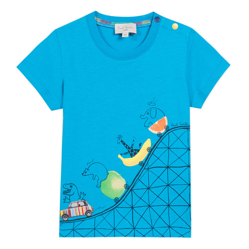 Blue Baby Roller-coaster Ride T-Shirt