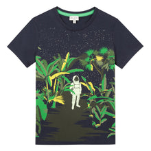 Load image into Gallery viewer, Navy Glow in the Dark Jungle T-Shirt