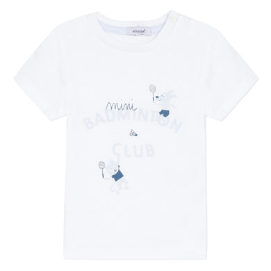 White Badminton Club T-Shirt