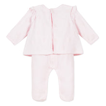Load image into Gallery viewer, Pink Velour Babygrow Outfit