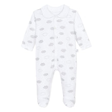 Load image into Gallery viewer, White Unisex Cloud Babygrow