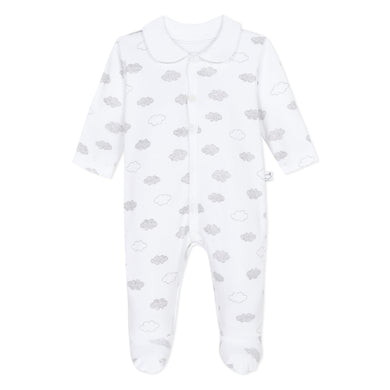 White Unisex Cloud Babygrow