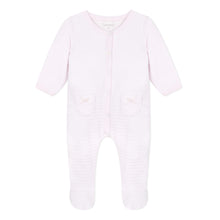 Load image into Gallery viewer, Pink Velour Babygrow