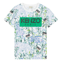 Load image into Gallery viewer, KENZO Boys White Jungle Logo T-Shirt