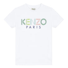 Load image into Gallery viewer, KENZO Boys White Colour Logo T-Shirt
